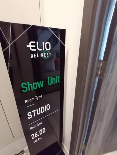 ขายคอนโดอ่อนนุช อุดมสุข : 🙌 ขาย ELIO DELNEST ห้อง STUDIO ขนาด 26 ตร.ม.ราคา 2,290,000 บาท สนใจติดต่อ 0654649497
