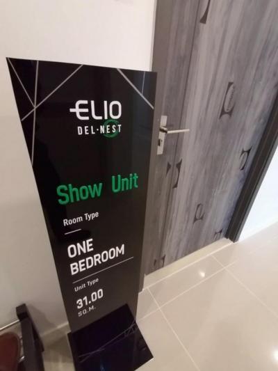 ขายคอนโดอ่อนนุช อุดมสุข : ประกาศ 👈👈👈 ขาย ELIO DELNEST 1 ห้องนอน 1 ห้องน้ำ ขนาด 31 ตร.ม. ราคา 2,790,000 บาท ชั้น 20 สนใจติดต่อ 0654649497