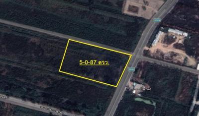 For SaleLandBangna, Lasalle, Bearing : Land for sale 5 rai 87 sq. Wah, next to the main road, ABAC, Bangna, corner Soi Nawaminthrachinuthit 9