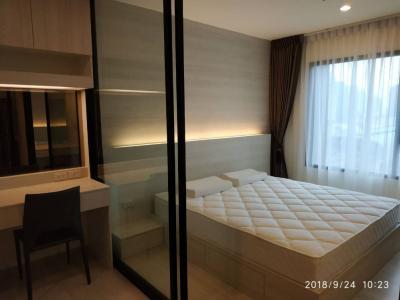 For RentCondoRama9, RCA, Petchaburi : OK-L037 Life Asoke condo for rent with a beautiful room at Petchburi MRT