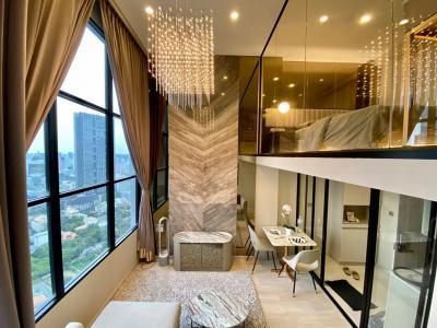 เช่าคอนโดสาทร นราธิวาส : A1035 ++RENT++ KnightsBridge Prime สาทร | 1 bed Duplex ขนาด 38 ตรม. ห้องใหม่แต่งสวย *BTS ช่องนนทรี