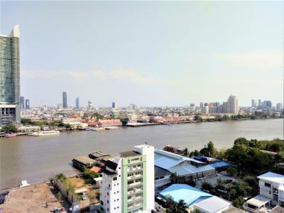 ขายคอนโดวงเวียนใหญ่ เจริญนคร : ขาย Supalai River Place เจริญนคร วิวแม่น้ำ ฝั่ง AsiaTique ห้องมุม ระเบียงกว้าง