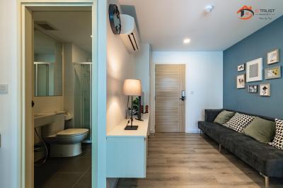 For SaleCondoSamrong, Samut Prakan : Condo for sale Pause Sukhumvit 115, 7th floor, fully furnished, 28.63 sq.m.