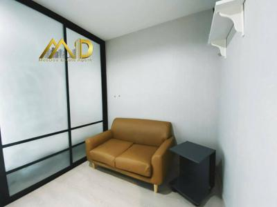 For RentCondoSamrong, Samut Prakan : New room for rent, Condo Ideo Sukhumvit 115, near BTS Pu Chao Samingphrai, 34th floor, nice view, good feng shui