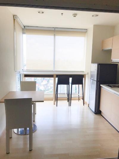 For SaleCondoRatchadapisek, Huaikwang, Suttisan : Urgent sale, cheap Rhythm Ratchada (Rhythm Ratchada), next to MRT Ratchada, 1 bedroom, Sky Kitchen, size 46 sq.m., 28th floor, price only 4.6 million baht.