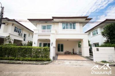 For SaleHouseBangkruai, Ratchapruek : Detached house, Rattanathibet, on the main road, beautiful condition, ready to move in