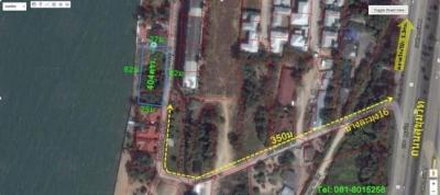 For SaleLandChonburi, Pattaya, Bangsa : Beachfront land for sale in Pattaya, 1 rai 2 ngan, with a 79 room hotel construction permit