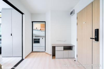 For RentCondoRama9, RCA, Petchaburi : Condo for rent, Rise Rama 9, only 7,500 baht, 1 bedroom, 25 sqm., Special discount price of 10,000 baht.