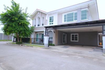 For SaleHouseLadkrabang, Suwannaphum Airport : House for sale Casa Grand Onnuch-Wongwaen, Corner corner 80.7 Sq.