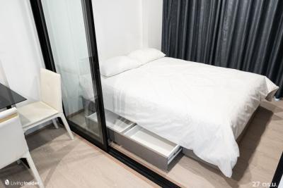 For RentCondoBangna, Lasalle, Bearing : Luxury condo, Soi La Salle, near BTS Bearing. Rental price is only 7,000 baht. Room size 27 sqm.