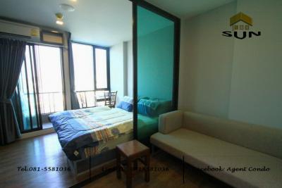 For RentCondoNawamin, Ramindra : For rent ESTA BLISS CONDO [Esta Bliss Condo] - Ramintra, Pink Line BTS next to Sethabutr station - Room size 23 sq.m., Building A, 8th floor - 1 bedroom, 1 bathroom