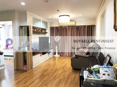 For RentCondoRama3 (Riverside),Satupadit : Condo for rent, Lumpini Place Narathiwat-Chaopraya, 3 bedrooms, Building C, Corner room, River view, 98 sqm. 27,000 baht / month