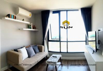 For RentCondoNawamin, Ramindra : For rent ESTA BLISS CONDO [Esta Bliss Condo] - Ram Inthra Line Pink Line next to BTS Setthabutra Station - Room size 35 sq. M. Building C, 7th floor - 2 bedrooms, 1 living room, separate kitchen