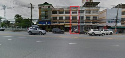 For SaleShophousePattaya, Bangsaen, Chonburi : 3 and half storey commercial building near J Park - Sriracha Is a marble floor on every floor