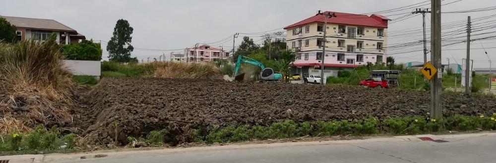 For RentLandLadkrabang, Suwannaphum Airport : Land for rent 100-341 sq. W. Chalerm Phrakiat Rd., Rama 9 Soi 30-Along the Ring Road Kanchana, Prawet corner plot near the Kuan Yin circle