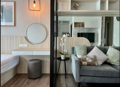 For RentCondoOnnut, Udomsuk : +++ Quick rent +++ THE BASE PARK WEST SUKHUMVIT 77 beautiful decoration, corner room, 2 bedrooms, 54 square meters, fully furnished