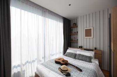 เช่าคอนโดสาทร นราธิวาส : 2399 ให้เช่า คอนโด Noble revo Silom แบบ 2 ห้องนอน ตกเเต่งครบ พร้อมอยู่ ห้องมุม วิวดี มีเครื่องซักผ้า