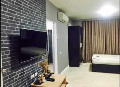 For RentCondoRamkhamhaeng Nida, Seri Thai : Sell or rent, D Condo Ramkhamhaeng 64, Ramkhamhaeng Road, size 29.73 sq.m., Floor 3, Building A for rent 7,000 / month, selling only 1.6 million