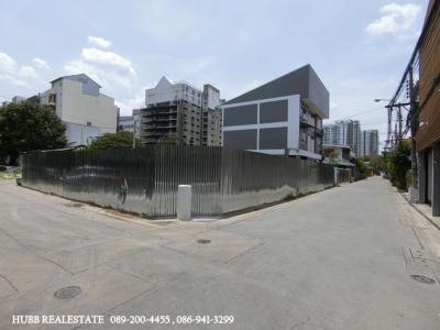 For SaleLandLadprao, Central Ladprao : Land for sale 105 sqw. Corner plot, Soi Ladprao 34, near Lat Phrao MRT station