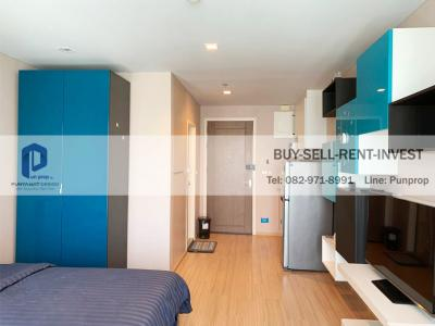 For RentCondoThaphra, Wutthakat : For rent condo near BTS @ Casa Ratchada-Ratchaphruek BTS Talat Phlu Studio room 26 sqm. Ready to move in, high floor, city view 9,000 baht / month