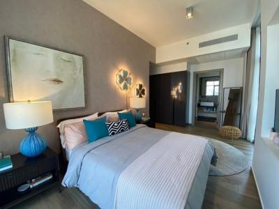 For RentCondoSukhumvit, Asoke, Thonglor : AE0128 The Lofts Asoke condo for rent, corner room, 86 sqm, 2 bedrooms, 12th floor, with bathtub