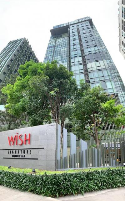 For SaleCondoRatchathewi,Phayathai : Condo for sale Wish Signature (Wish Signature Midtown Siam) Studio room size 27 Sq.m