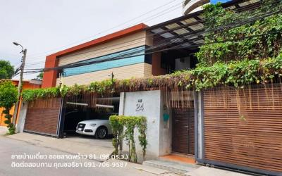 For SaleHouseLadprao101, The Mall Bang Kapi : QUICK SALE!!! LARGE SINGLE HOUSE (Soi Ladprao 81, Land 98 sq.w. Usable area 650 sq.m.) Near Big C and Imperial World Ladprao