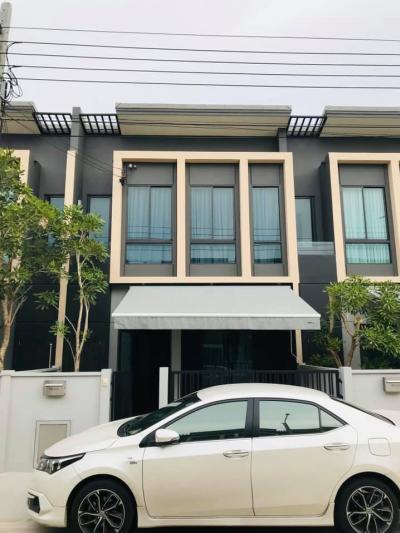 For RentTownhouseBangna, Lasalle, Bearing : ทาว 2-story townhome for rent, Plino Sukhumvit-Bangna, Soi Ratchawinit School-Bang Kaew