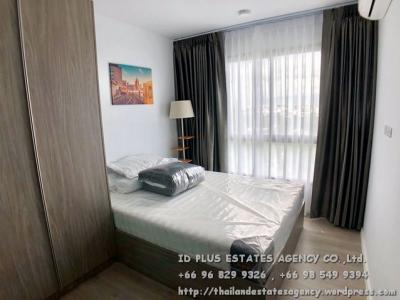 For RentCondoBangna, Lasalle, Bearing : Notting Hill Sukhumvit 105 Condo (Low rise) for rent: 2 bedrooms 34.5 sqm on 8 fl. With fully furnished and electrical appliances. Just 500 m. to BTS Bearing. Rental only for 12,000 / m.