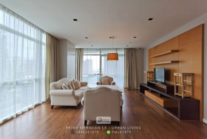 ขายคอนโดวิทยุ ชิดลม หลังสวน : (Large Penthouse Style) Athenee Residences - Luxury 3 Bedroom Corner Unit / Ready To Move In / High Floor
