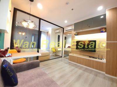 For RentCondoRattanathibet, Sanambinna : Politan rive for rent, 21st floor, 31 sq.m., south view, river view, Phra Nang Klao Bridge, beautiful and ready to move in