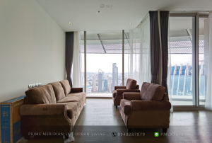 For RentCondoWitthayu,Ploenchit  ,Langsuan : (Penthouse Style) Magnolias Waterfront Residences - Brand New Unfurnished Unit / Large Balcony With Stunning Riverviews