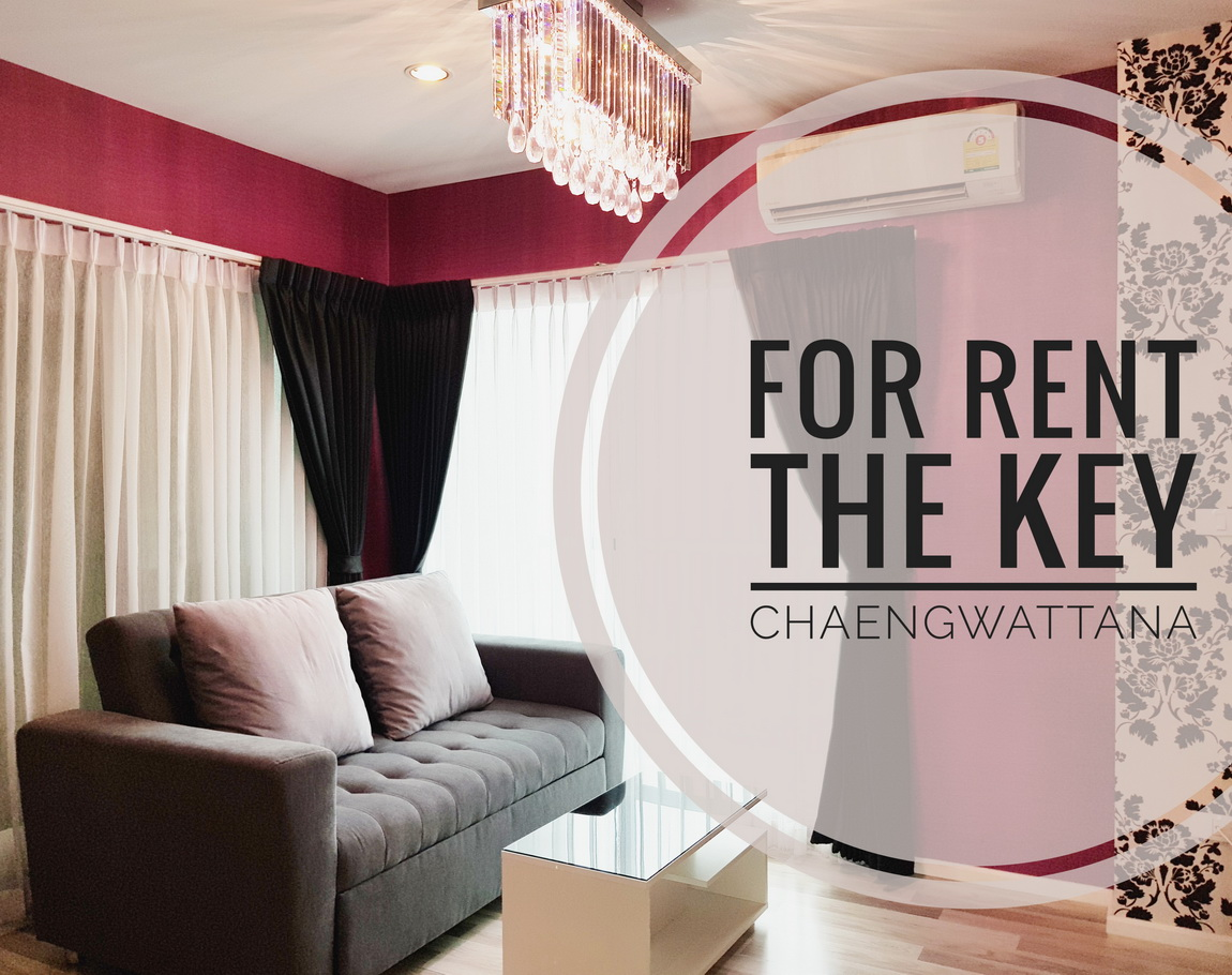For RentCondoChengwatana, Muangthong : ((For Rent)) The Key Chaengwattana, Fully Built-In, Fully Furnished, Just Like Your Own House