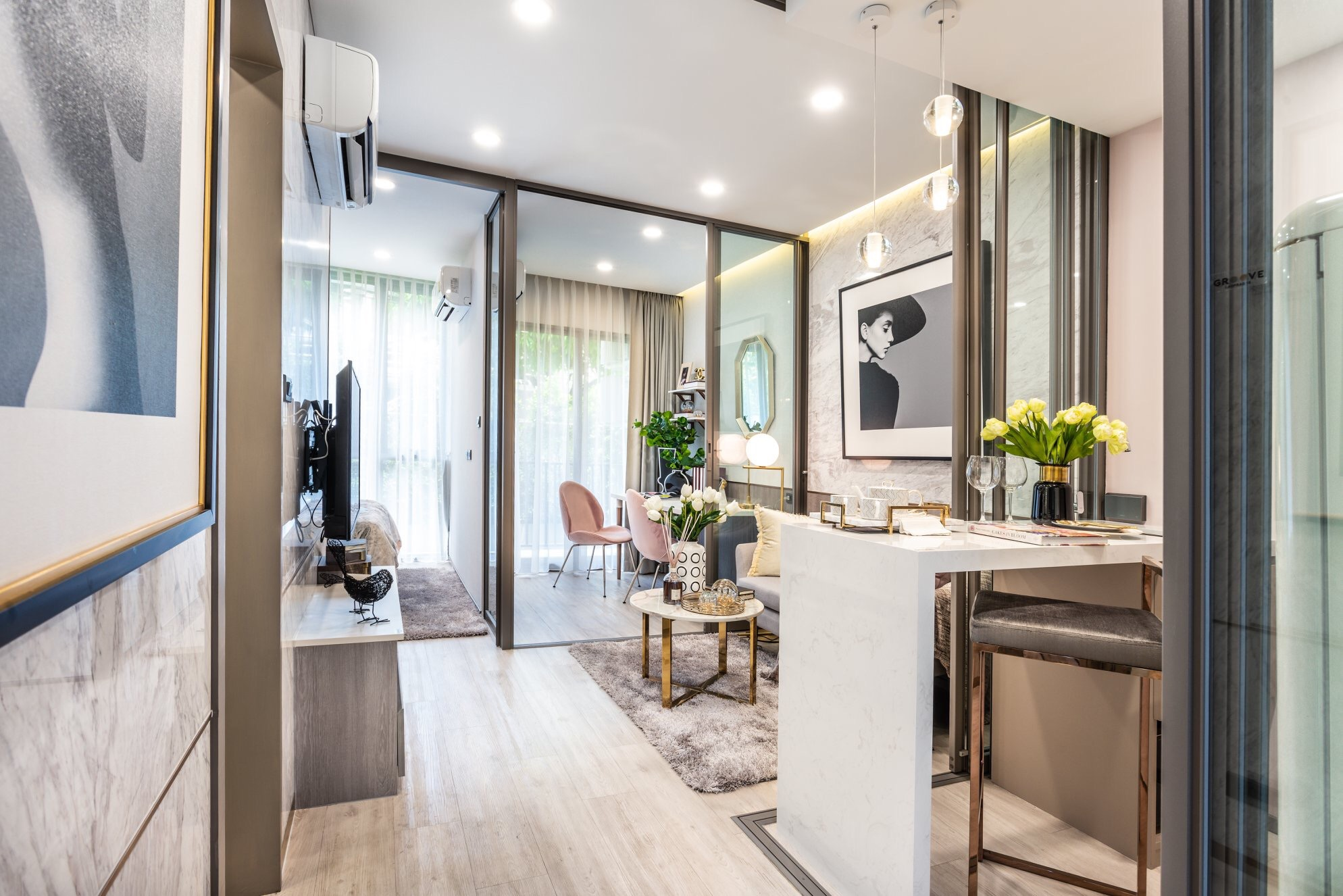 Sale DownCondoLadprao, Central Ladprao : Sell down payment 340,000 1 bedroom condo + multipurpose room with walk-in closet near MRT Ladprao Groove Vibes Ladprao 18