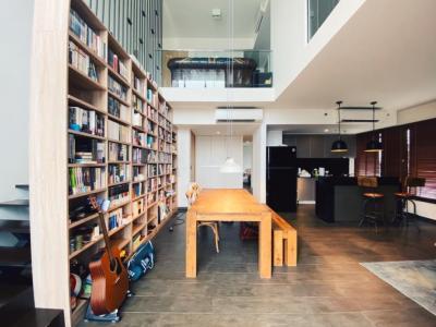 ขายคอนโดสุขุมวิท อโศก ทองหล่อ : ขาย penthouse คอนโด [ The Lofts Ekkamai ] 166 ตร.ม. ชั้น 26-27