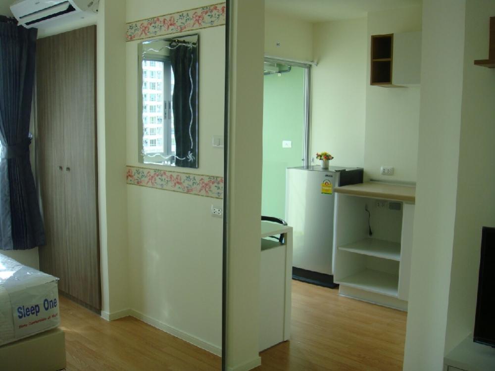 For RentCondoSeri Thai, Ramkhamhaeng Nida : For rent, Lumpini Ramkhamhaeng 60/2, size 23 sqm, 11th floor, fully furnished, ready to rent