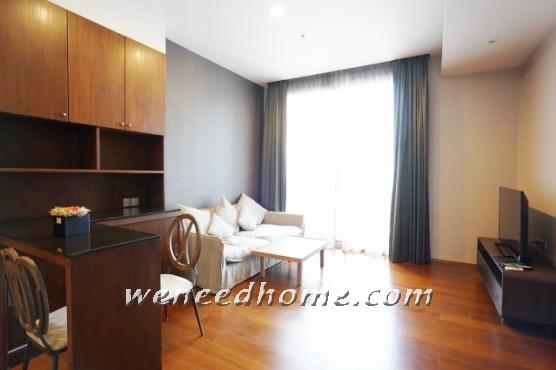 เช่าคอนโดสุขุมวิท อโศก ทองหล่อ : Quattro Thonglor for rent 53 m2 1 Bed fully furnished unblocked view