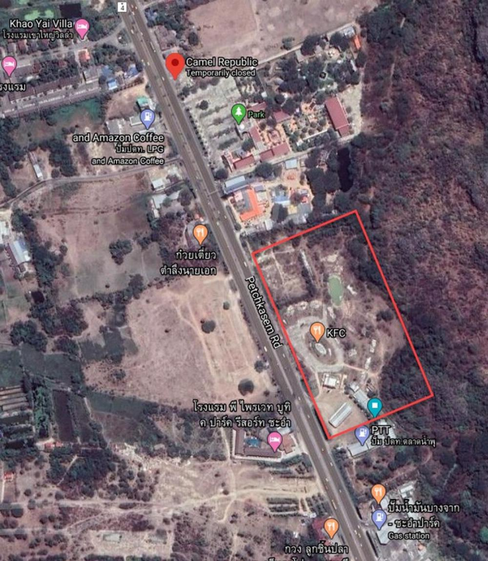 For SaleLandPhetchaburi : Land for sale in Cha Am, on the road, total area 21-1-70 rai, is pink area, good for building anything :)