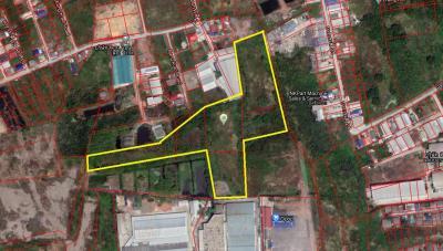 For SaleLandRama 2, Bang Khun Thian : Land for sale 15 rai, Soi Bang Kradi 30, Samae Dam Subdistrict, Bang Khun Thian District