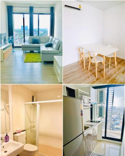 เช่าคอนโดสำโรง สมุทรปราการ : *For Rent* Knightsbridge Sky River Ocean Condominium. BTS Pak Nam 2 bed, River view.