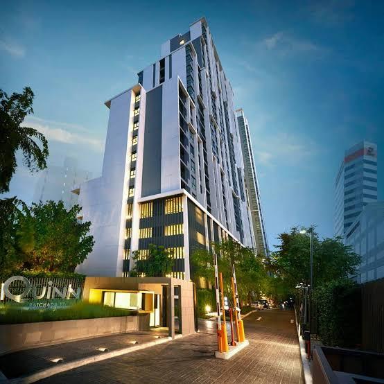 เช่าคอนโดรัชดา ห้วยขวาง : Condo for rent🏢 Quinn Ratchada 17📌2Beds 2Baths 66Sq.m. 19th floor /Building A 🚅Near MRT Suthisan