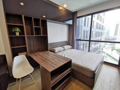 เช่าคอนโดสยาม จุฬา สามย่าน : ให้เช่า ห้องสตูดิโอ 24 ตรม. ห้องแต่งสวย ชั้นสูง พร้อมเข้าอยู่ Ashton Chula-Silom ใกล้ จุฬาฯ