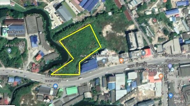 ขายที่ดินพัทยา ชลบุรี : ขายที่ดินเปล่า 5ไร่ 52 ตารางวา ติดถนนหลวงบ้านเก่า
