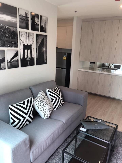 For RentCondoRatchadapisek, Huaikwang, Suttisan : *** Urgent rental *** NOBLE REVOLVE RATCHADA beautiful room ** 2 bedrooms, 50 sqm, ready to move in !!