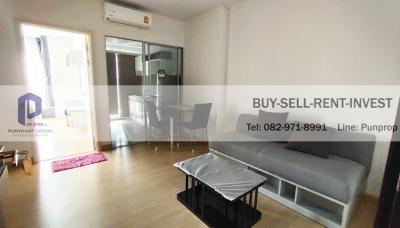 เช่าคอนโดพระราม 9 เพชรบุรีตัดใหม่ : ให้เช่าคอนโด Supalai Veranda Rama 9 ใกล้ทางด่วน อาคาร B 41 ตรม. ชั้นสูง แต่งครบ 15,000 บาท/เดือน