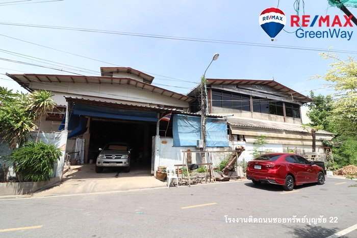 For SaleShophousePattanakan, Srinakarin : Land for sale in Srinakarin - Sub Boonchai 22, next to the second road, with building area of 332 sq.w. Price 13 million