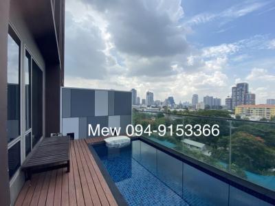เช่าคอนโดสุขุมวิท อโศก ทองหล่อ : ForRent Ashton morph Sukhumvit38 bts thonglor- 2 bedroom Duplex include Private swimmingpool