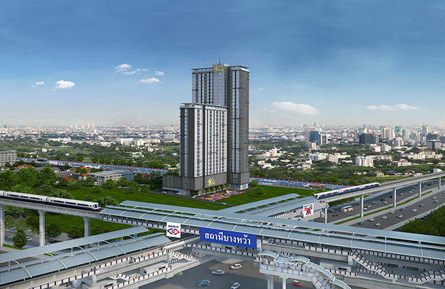 For SaleCondoThaphra, Wutthakat : For Sale Condo The President Sathorn-Ratchaphruek 3, Ready to move in !! 30 sqm, 19th floor