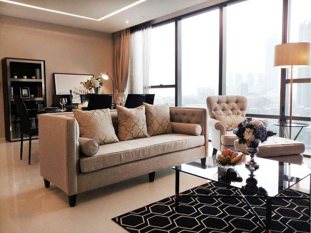 เช่าคอนโดสาทร นราธิวาส : The Bangkok Sathorn - Beautifully Furnished 2 Bedrooms / 118.4 Sqm / Ready To Move In / Unblocked Views