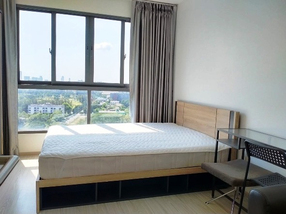 For RentCondoBangna, Lasalle, Bearing : For Rent Ideo Mobi Eastgate Studio 24 sqm. High floor, beautiful view, fully furnished